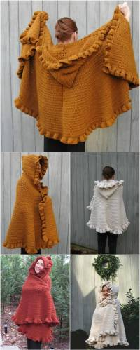 10 FREE Crochet Shawl Patterns for Women's  101 Crochet