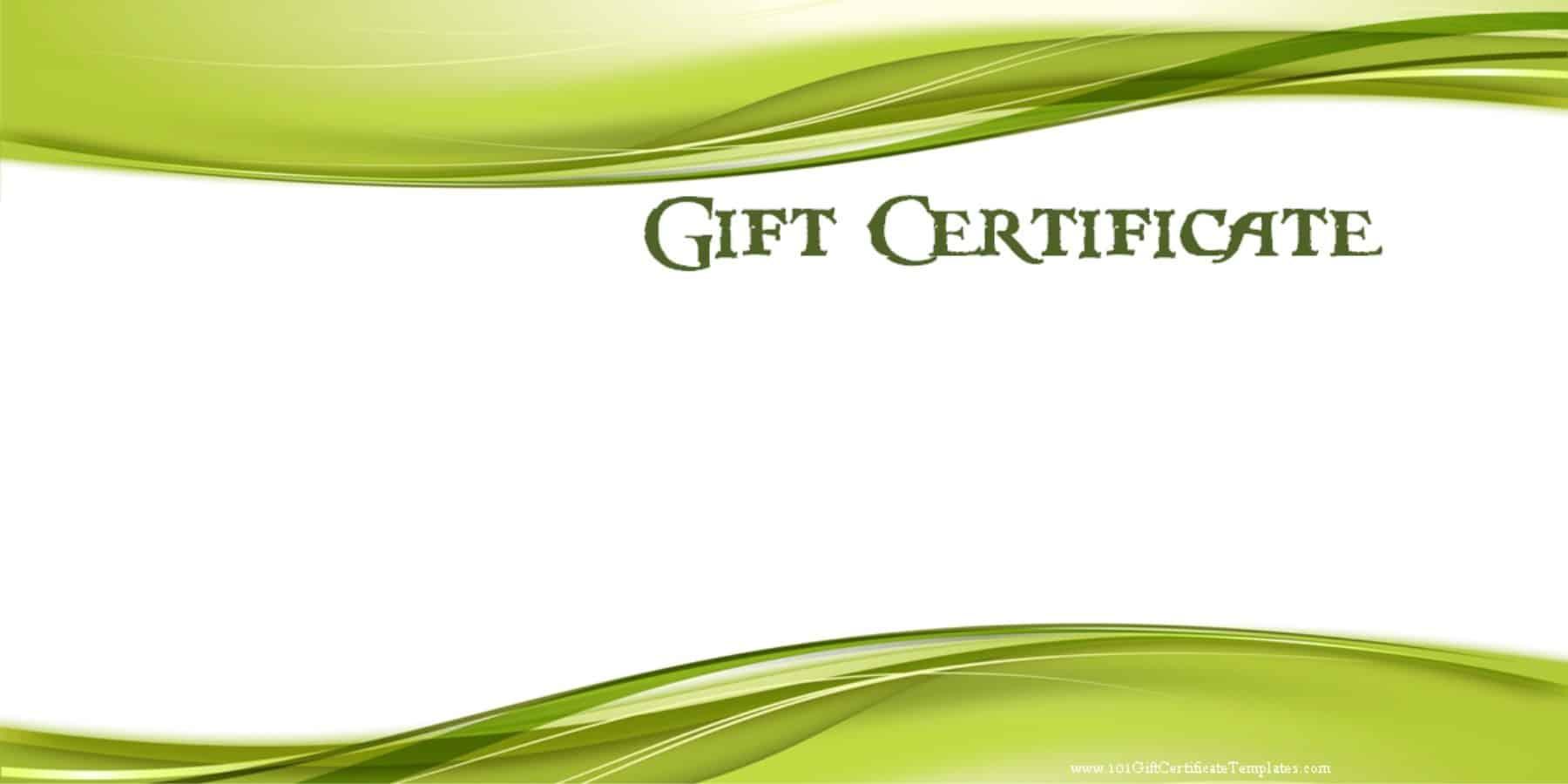blank gift voucher template