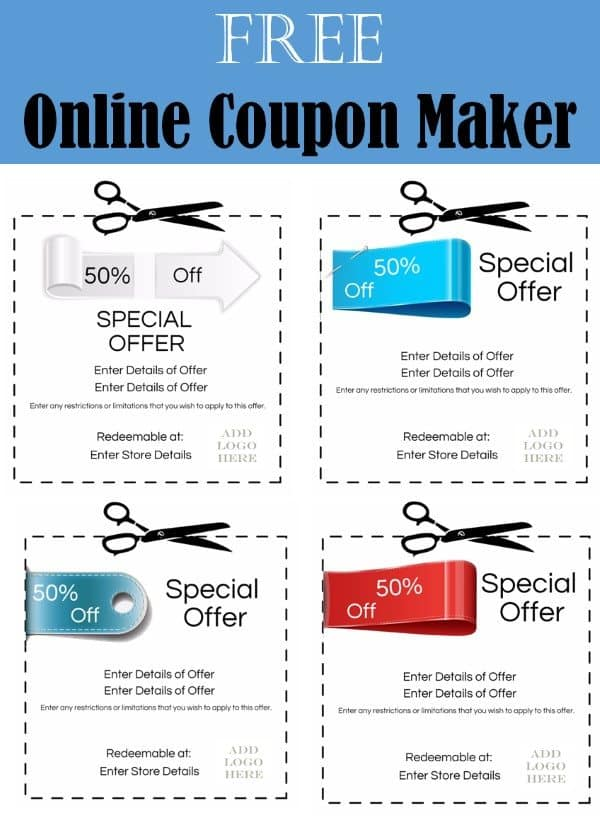 free coupon maker online