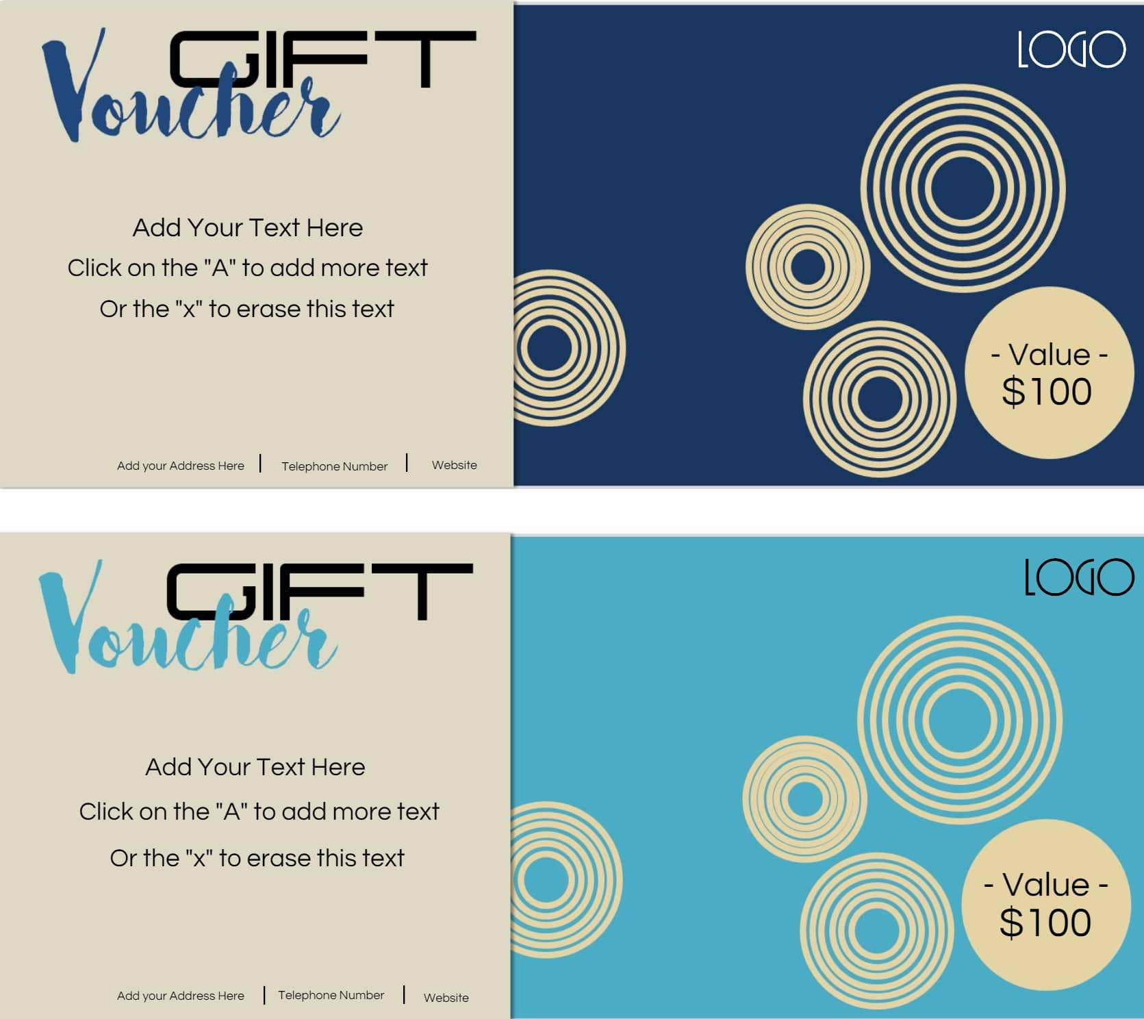 print a gift certificate free
