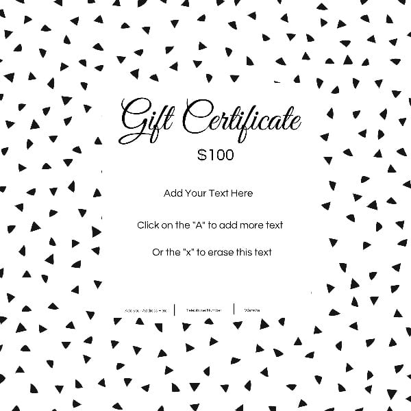Gift Certificate Template With Customizable Background And Text