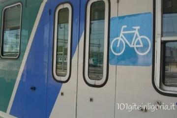Bicicletta gratis sui treni in Liguria