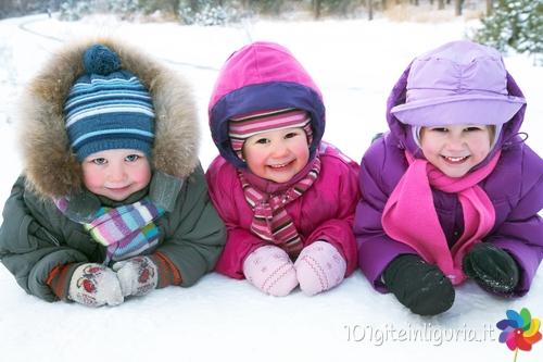 Sulla neve con i bambini