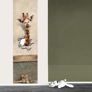 Poster kinderkamer jungle giraf met eigen naam  101