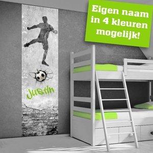 Poster kinderkamer voetballer met eigen naam  101