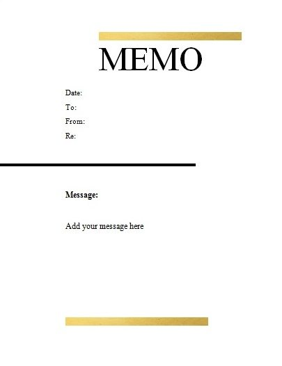 Free Microsoft Word Memo Template