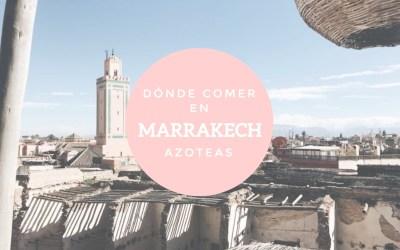 Dónde comer en Marrakech: azoteas
