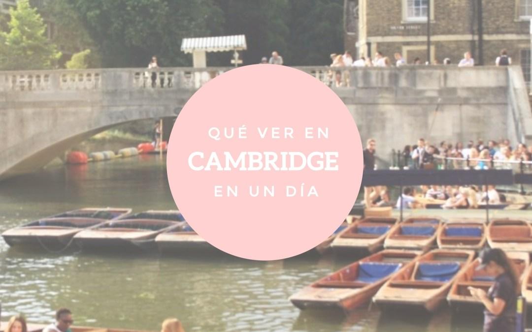 Qué hacer en Cambridge en un día
