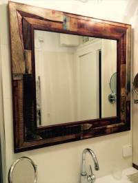 DIY Rustic Pallet Mirror for Wall