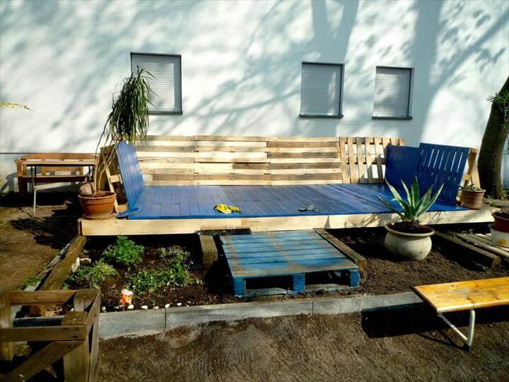 diy pallet deck furniture