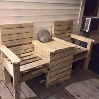 Wood Pallet Outdoor Bench - Double Chair! - 101 Pallet Ideas