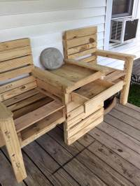 Wood Pallet Outdoor Bench - Double Chair