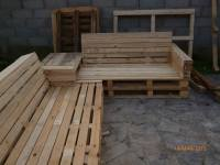 Pallet Sectional Patio Set