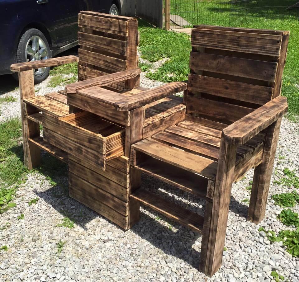 Wood Pallet Outdoor Bench