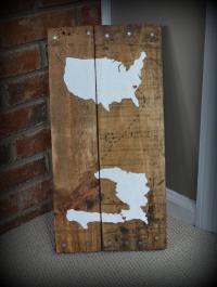 DIY Wooden Pallet Rustic Map Wall Art - 101 Pallet Ideas