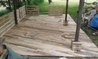 Pallet Deck Construction - DIY Patio Furniture - 101 ...
