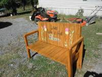 DIY Fold-able Pallet Bench  Picnic Table