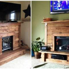 Mostly Sofas Sleeper Santa Barbara Pallet Fireplace With Tv Stand