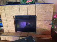 Pallet Fireplace with TV Stand - 101 Pallet Ideas