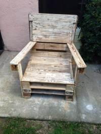 Wooden Pallet Chair - 101 Pallet Ideas