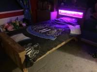 Platform Pallet Bed With Lights
