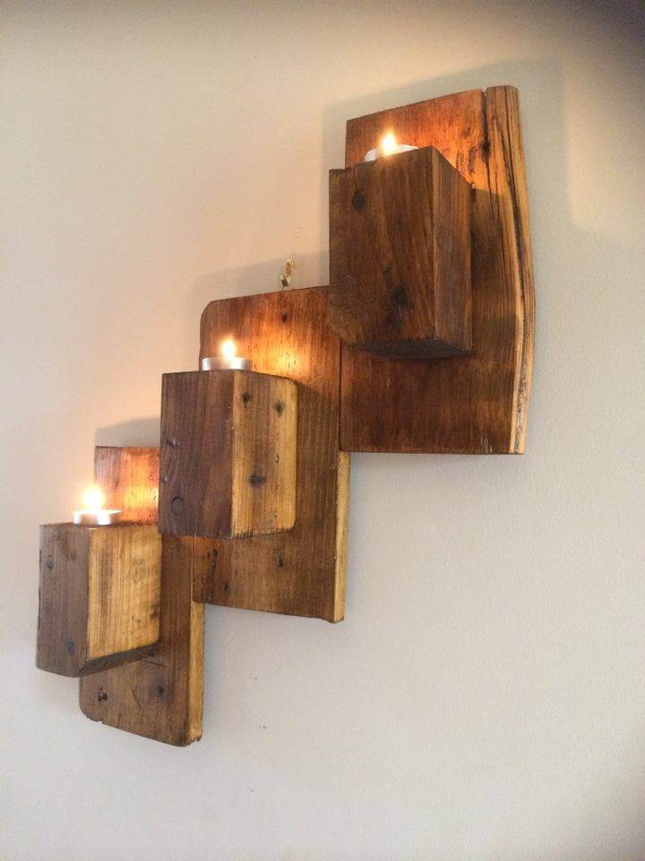 Wood Wall Candle Holders