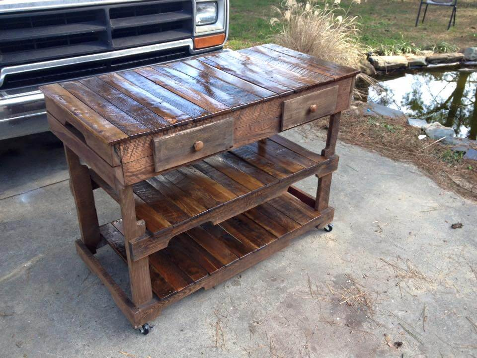 Pallet Kitchen Island or End Table