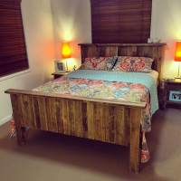 DIY Pallet Bed with Storage Ideas | Diy Pallet Bed, Beds ...