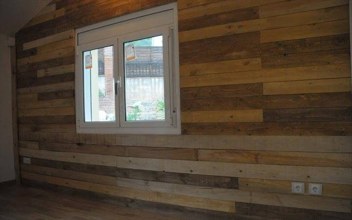 Pallet Wood Wall Paneling  101 Pallet Ideas