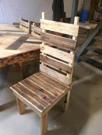 Pallet Dining Table with Chairs Set
