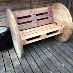 Adirondack Chair Diy Sofa Bed Tesco 2 Pallet Board & Spool Wheel Bench - 101 Ideas