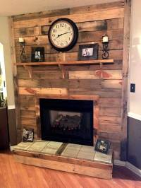 DIY Pallet Fireplace