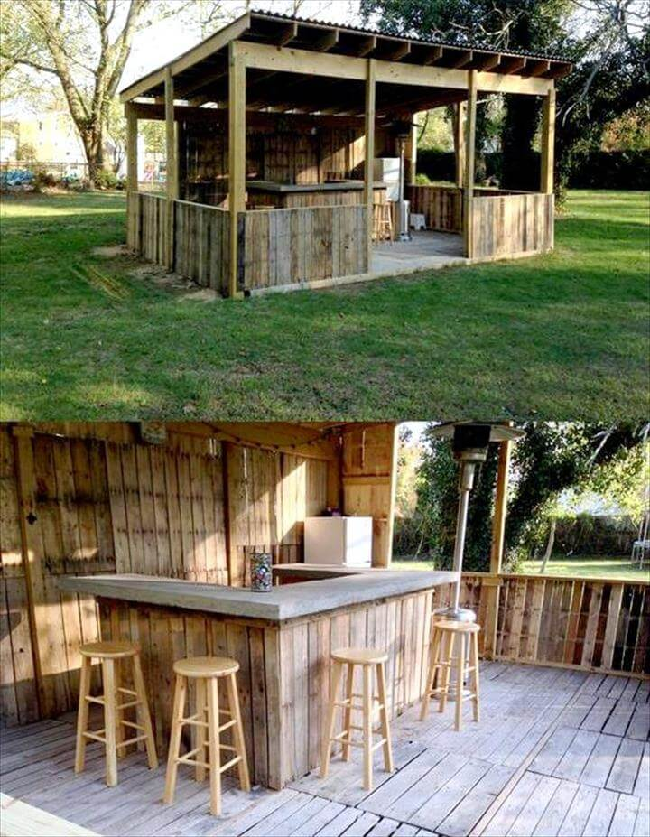 50 Best Loved Pallet Bar Ideas & Projects