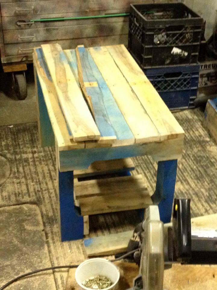 Mini Wood Pallet Table + Lower Shelf