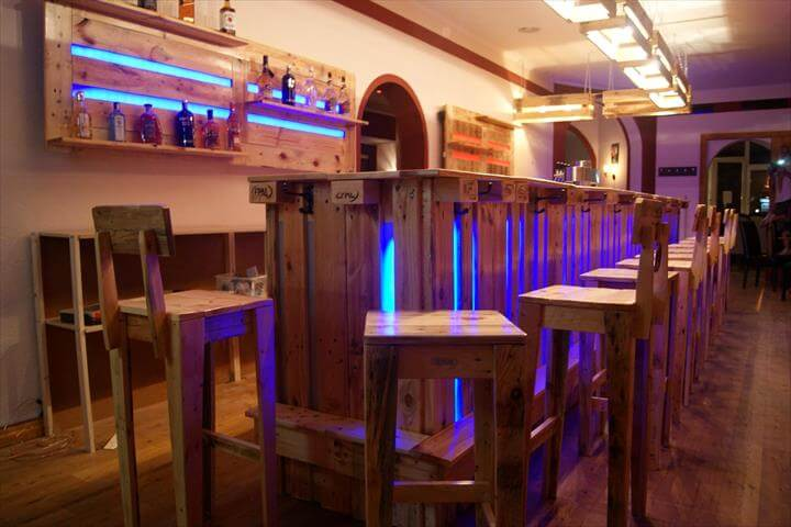Gorgeous Wood Pallet Bar Projects  101 Pallet Ideas