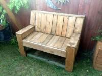 Mini Pallet Wood Bench | 101 Pallet Ideas