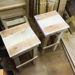 Unfinished Adirondack Chair Vintage Stand Diy Pallet Bar Stools