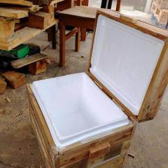 Sofa Chair With Wheels Sofas Swansea Diy Pallet Cooler Stand / Ice Chest