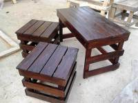 Pallet Coffee Table with Side Tables - 101 Pallet Ideas