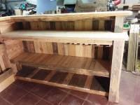 DIY Pallet Bar with Custom Built-in Shelves - 101 Pallet Ideas