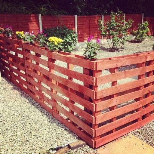 Red Pallet Fence