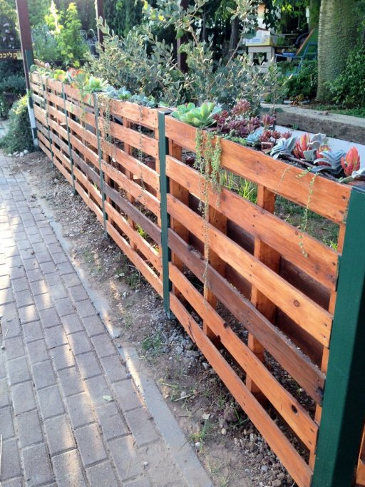 OutdoorPalletSucculentFence