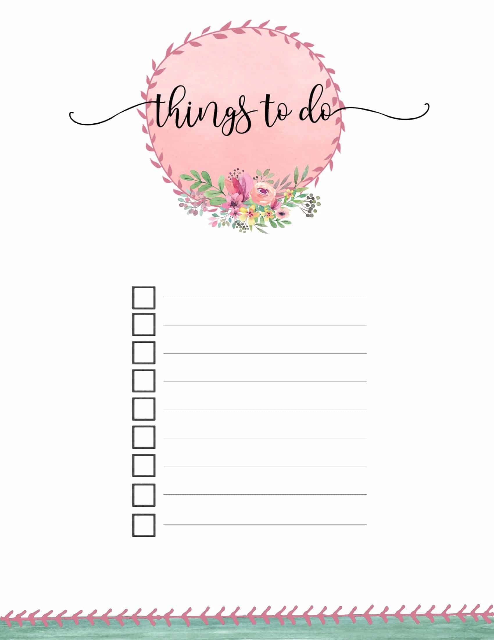 Free Printable To Do List  Print or Use Online  Access from Anywhere