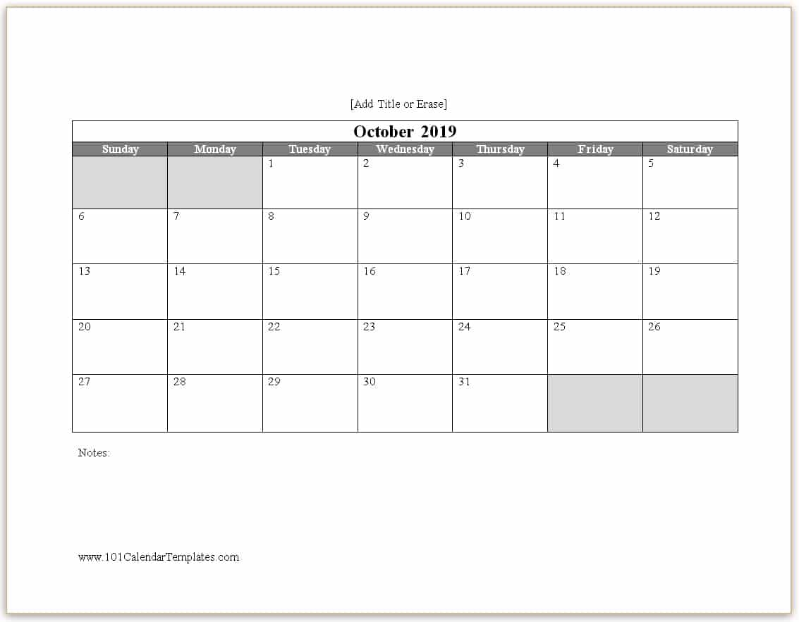 blank free printable calendar