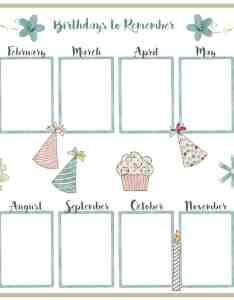 Printable birthday chart template also vatozozdevelopment rh