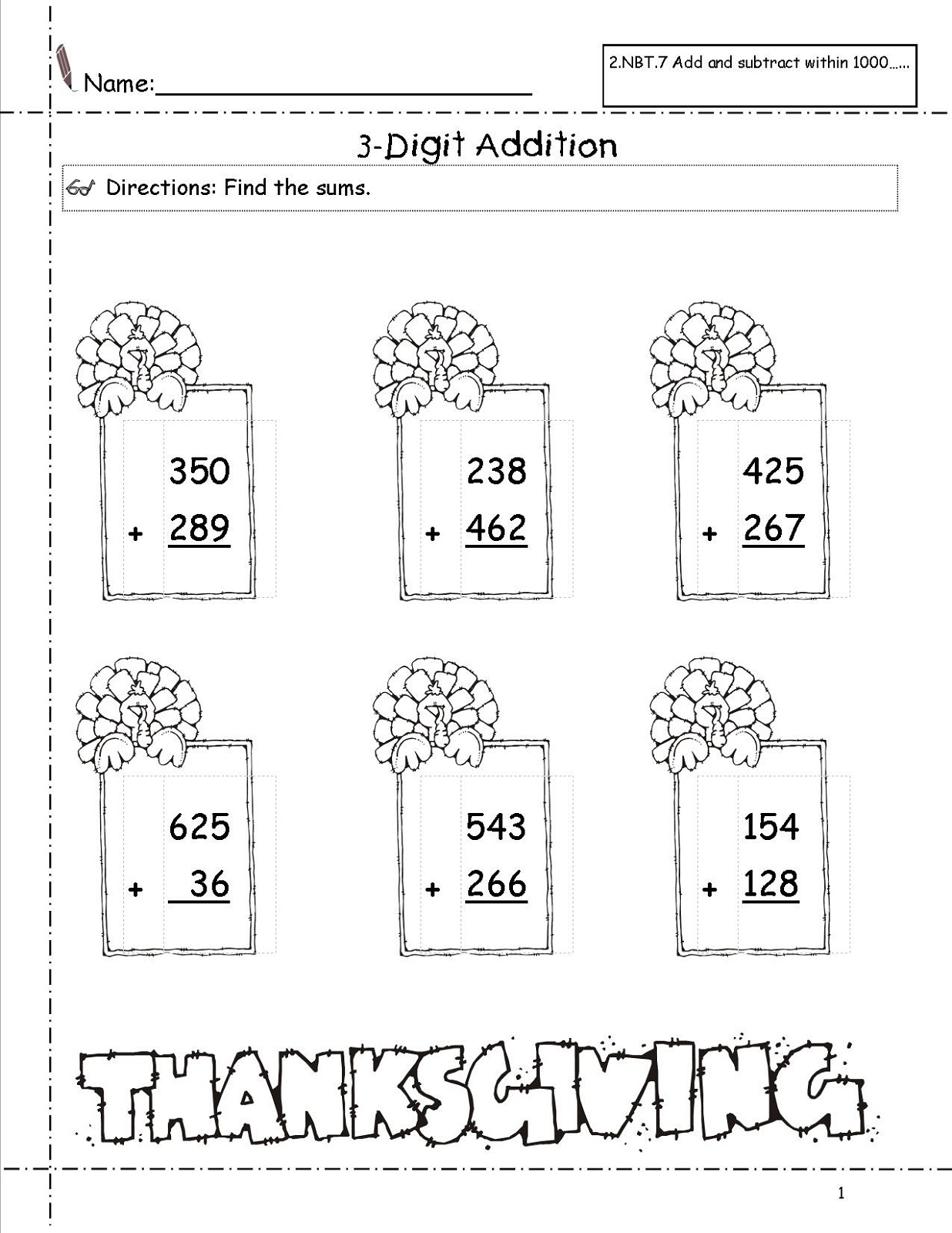 3 Addends Worksheet Printable For Kids