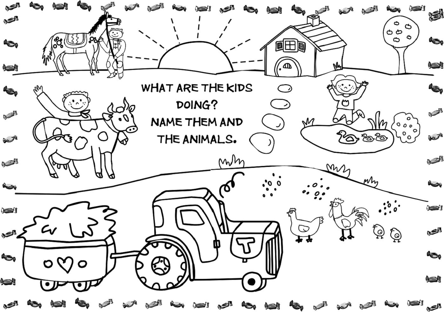 Kids Activity Pages For Additional Activity