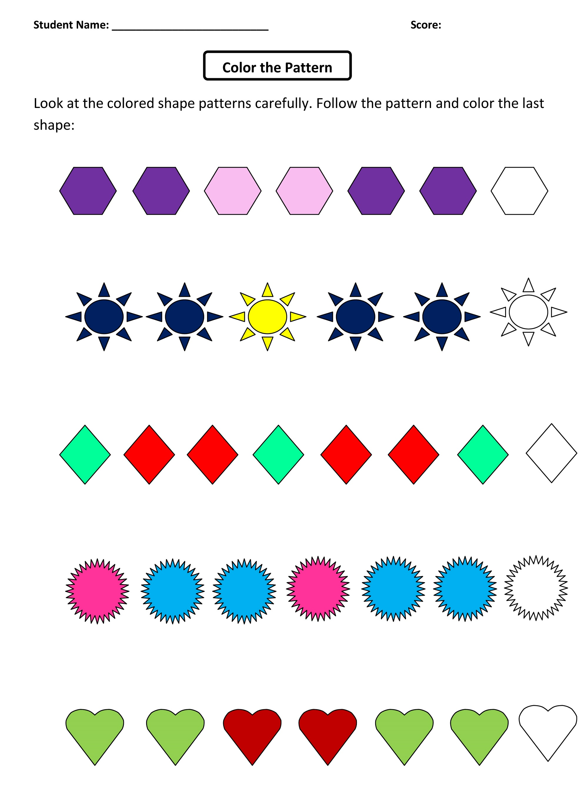 Kids Fun Worksheets High Quality