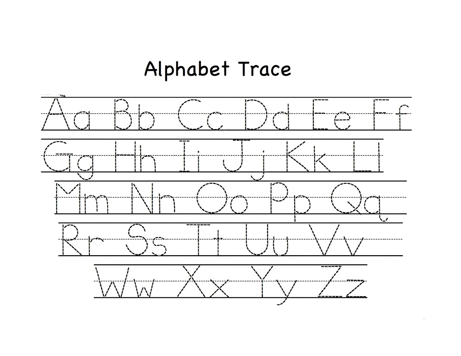 Trace Letters Worksheet Easy