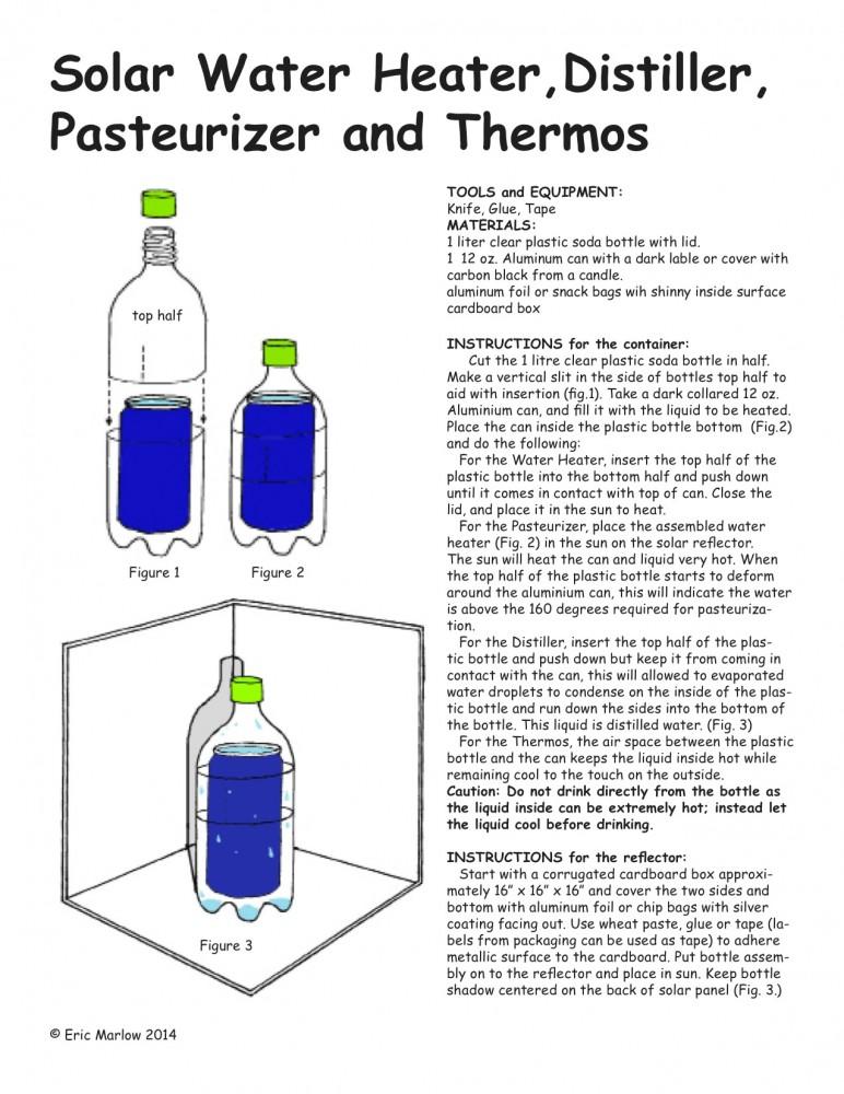 How to make a Plastic bottle Solar distiller